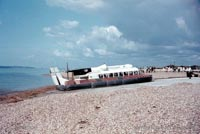 The SRN6 with Hovertravel - Landed at Southsea (Pat Lawrence).